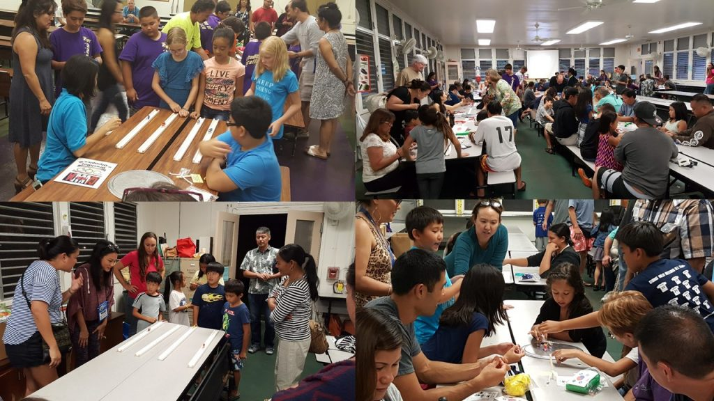 Photos of participants at Brushbot Festival Night