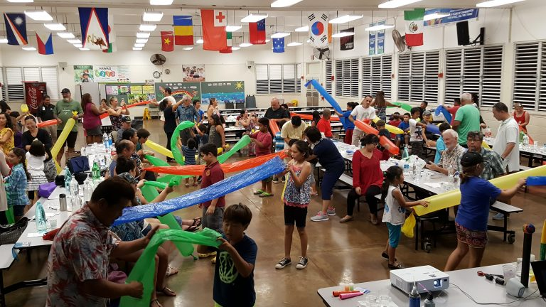 Photo of participants at a STEM Festival Night