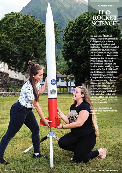 Imua rocket students.